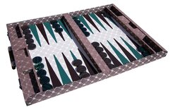 Dal Negro Brown Prestige Tournament Backgammon Set