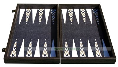 Manopoulos Golden Abstract Backgammon Set