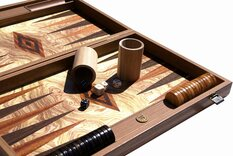Manopoulos Luxury Olive Burl Backgammon Set