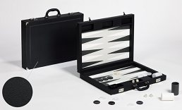 Dal Negro Black Case Backgammon set