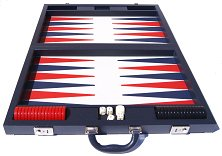 Dal Negro Blue Case Backgammon
