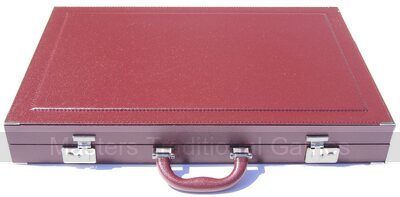 Dal Negro Bordeaux (Burgundy) Backgammon Case