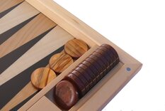 Dal Negro Ebony Iridescent Backgammon Set