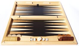 Dal Negro Ebony Iridescent Backgammon