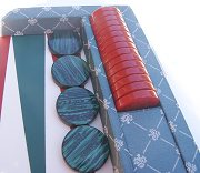 Dal Negro Prestige Backgammon Case - Teal