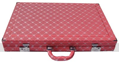 Dal Negro Prestige Backgammon Case - Red