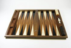 Dal Negro London Walnut Backgammon Set