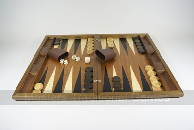 Dal Negro Oxford Walnut Backgammon Set