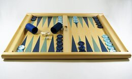 Tournament Size Backgammon Sets - Non Folding Boards