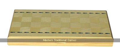 Dal Negro Maple Rodi Backgammon Set - Light & Dark Blue