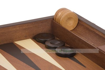 Uber Mahogany Faced Backgammon Set
