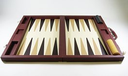 Dal Negro Brown Case Backgammon Set