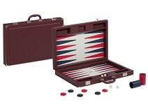 Dal Negro Bordeaux Pro Briefcase Leatherette Backgammon Set
