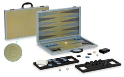 Dal Negro Composite Fibre Backgammon Case - Yellow