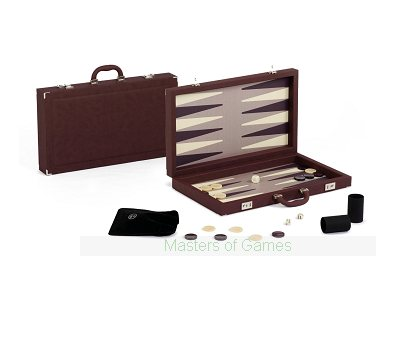 Dal Negro Elite Bordeaux Backgammon Case - Burgundy