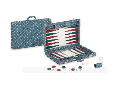 Dal Negro Prestige Backgammon Case - Green / Blue