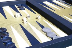 Dal Negro Elite Blue Backgammon Case