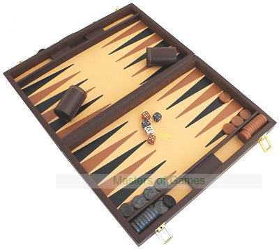 Italfama Brown Leatherette Backgammon Case