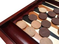 Sunrise Handicrafts Wooden 19-inch Backgammon Set