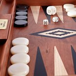 Manopoulos Classic Wooden Backgammon Set