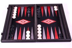 Manopoulos Black Oak Argento Backgammon Set