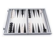 Manopoulos Carbon Fibre Leatherette Backgammon Set (19-inch)