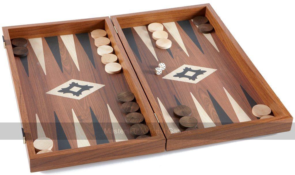 Manopoulos Walnut Replica 19-inch Backgammon Set