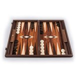 Manopoulos Palisander Crown Cut Backgammon Set
