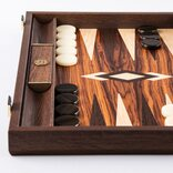 Manopoulos Palisander Crown Cut 19-inch Backgammon Set
