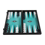 Manopoulos Turquoise Geometric Shapes Backgammon Set