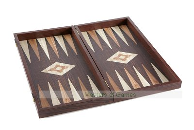 Manopoulos Walnut & Wenge Effect Backgammon Set