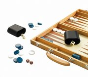 Traditional Wooden Backgammon Set