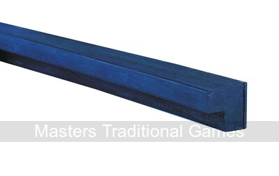 7/8 inch L-shaped black club cushion rubber (20 x 22mm Set of 6 x 6 feet lengths, suitable for 9ft -12 ft snooker tables)