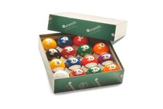Aramith Premier Engraved Pool Balls - Spots & Stripes