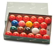 Aramith Standard Full-size Snooker Balls (2 & 1/16 inch, 52.5mm, with 15 reds)