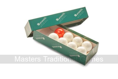 Set Bar Billiards Balls (1 & 7/8 inch - 7 white, 1 red)