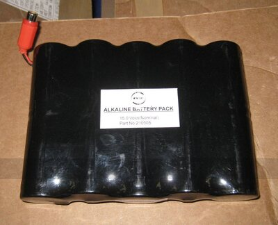 15V Battery pack for Bar Billiards timer