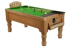 Supreme Bar Billiards Table - Oak Finish