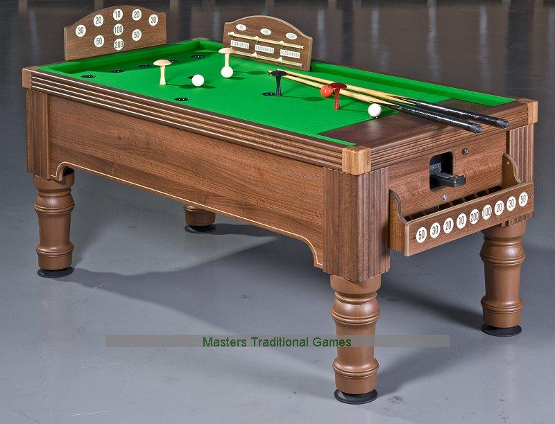 supreme bar billiards table oak or walnut finish available. Black Bedroom Furniture Sets. Home Design Ideas