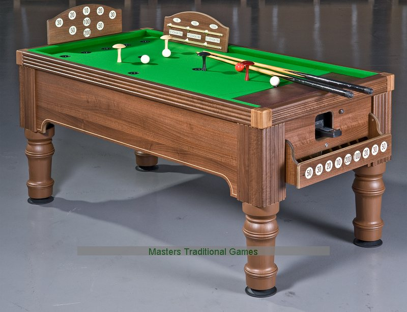 Supreme bar billiards table oak or walnut finish available - Table bar murale ...