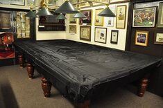Fitted Plastic Table Cover for 12 foot Snooker Table