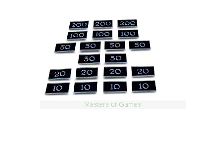 Set of 20 rectangular metal Bar Billiards Table Numbers