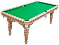 Hand-made, Dual-Height Snooker Dining Table - 6ft, mahogany, with accessories
