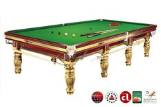 Dynamic Prince 12ft Snooker Table - Gold