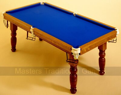 Hand-made Snooker Table - 6ft, mahogany, with accessories