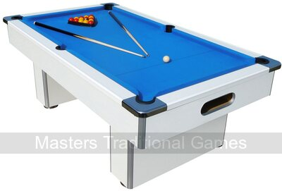Mightymast 7ft Speedster Slate Bed Pool Table - White