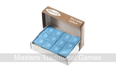 Box of 12 cubes of Tournament Quality Pioneer Chalk - Blue