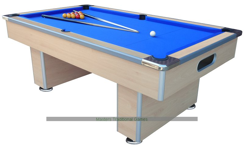 Mightymast Ft Speedster Slate Bed Pool Table Beech Black - Pool table without slate