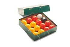 Aramith Pool Balls - Red & Yellow / English