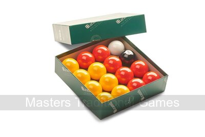 Aramith League Pool Balls - Red & Yellow - 2 inch